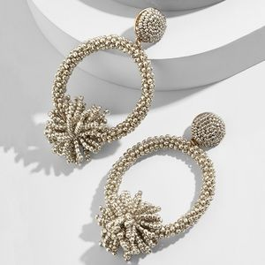 BaubleBar Ricarda Hoop Earrings Light Gold
